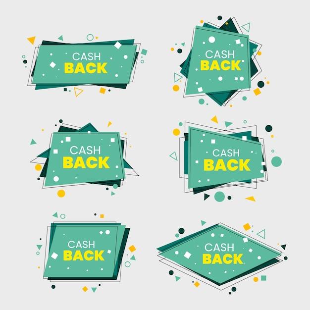 Set di raccolta etichette cashback Vettore gratuito