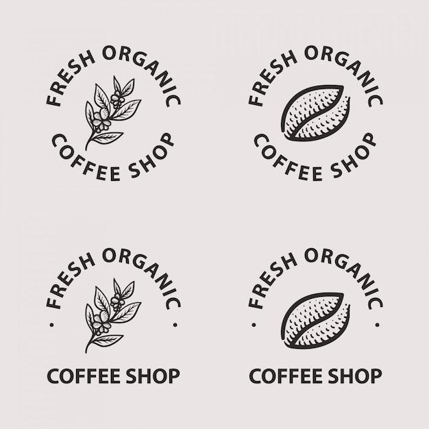 Set di raccolta logo caffè Vettore Premium