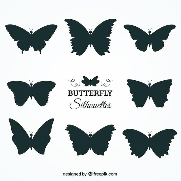 Set Di Sagome Di Farfalle Con Varietà Di Disegni Scaricare Vettori