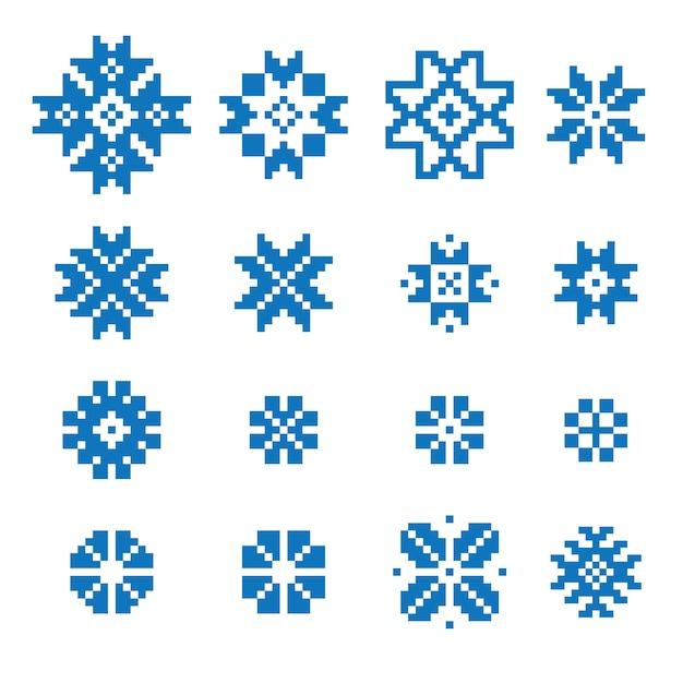 Set di segni geometrici etnici Vettore Premium