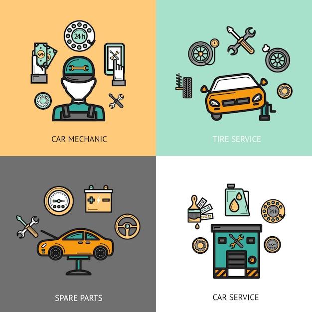 Set di servizi automatico Vettore Premium
