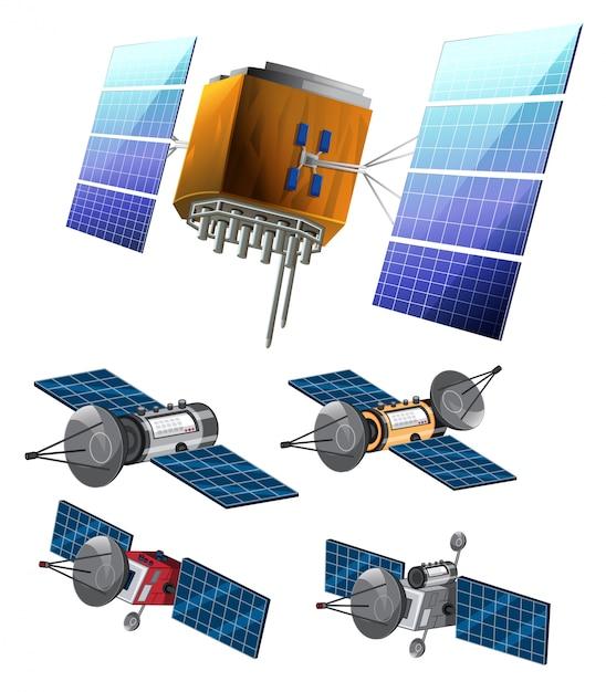 Set di set di satellite Vettore Premium