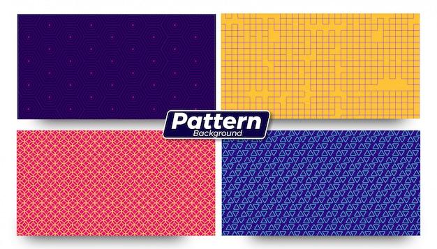 Set di sfondi a forma di modello diverso astratto Vettore Premium