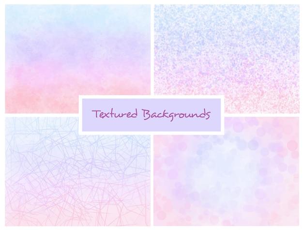 Set di sfondi di ombre strutturate rosa e blu Vettore Premium