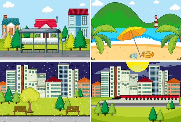 Set di sfondo semplice Vettore gratuito