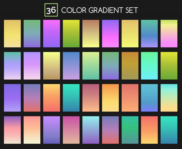 Set di sfumature colorate Vettore Premium