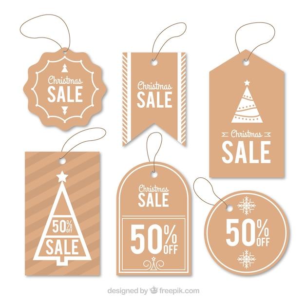 Set di simpatici adesivi natalizi in vendita Vettore gratuito