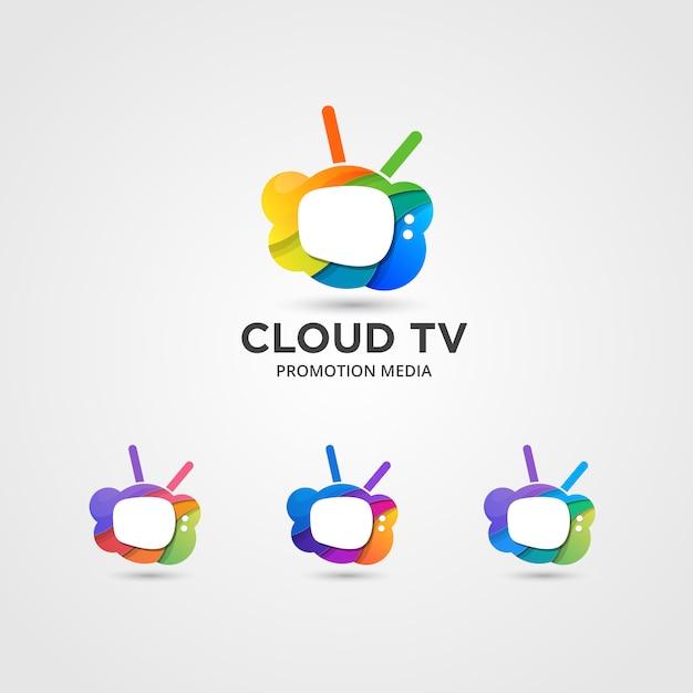 Set di stream now logo disponibile in vettoriale / illustrazione Vettore Premium
