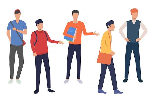 Set di studenti di ingegneria del software Vettore gratuito
