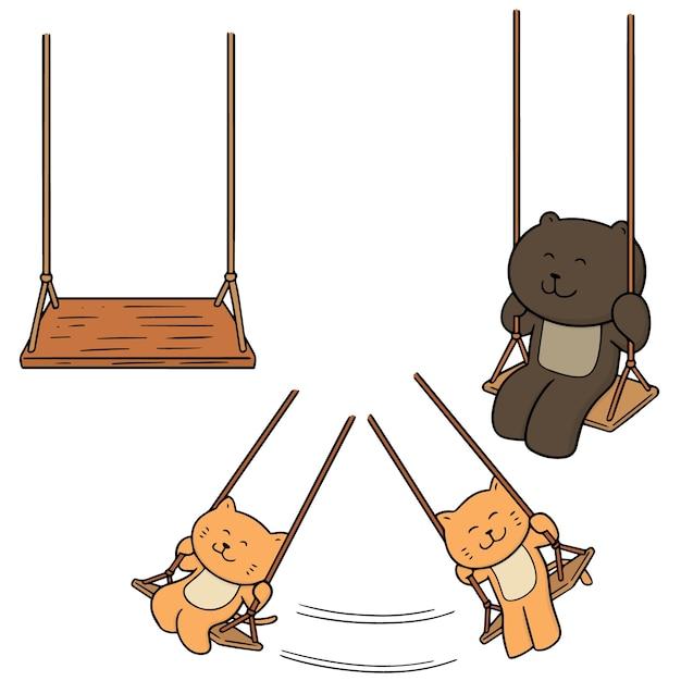 Set di swing Vettore Premium