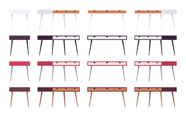 Set di tavoli con cassetti Vettore Premium