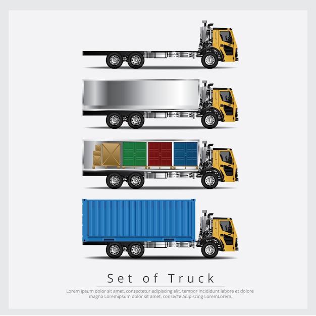 Set di trasporto camion carichi Vettore Premium