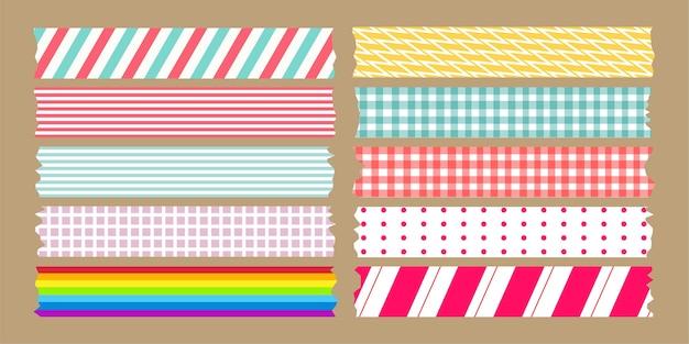 Set di varietà di nastri adesivi Vettore Premium