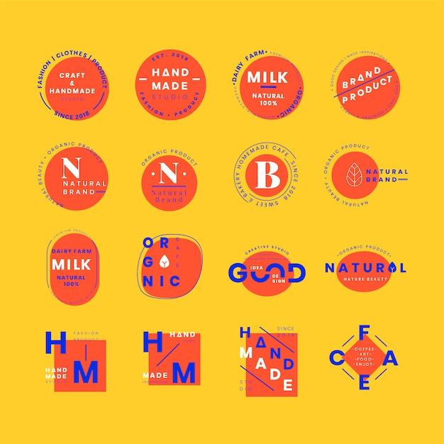 Set di vettori di design distintivo logo Vettore gratuito