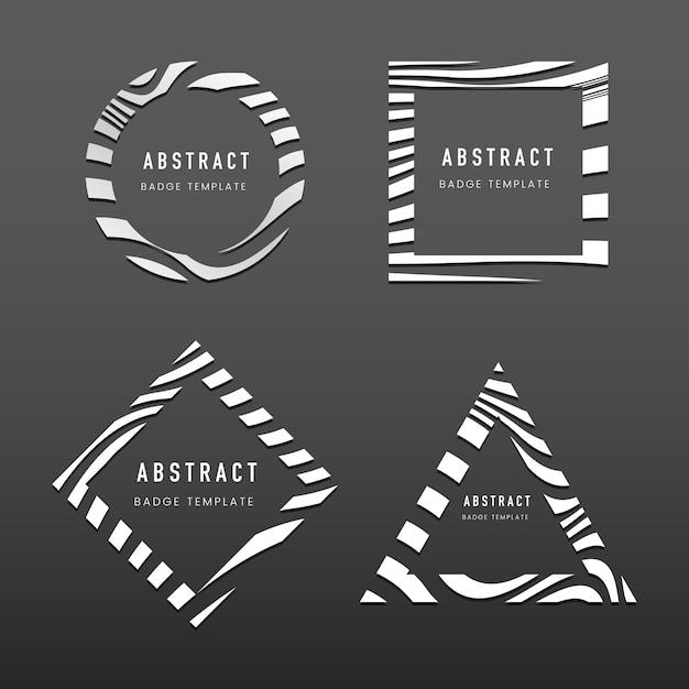 Set di vettori di modello distintivo astratto Vettore gratuito