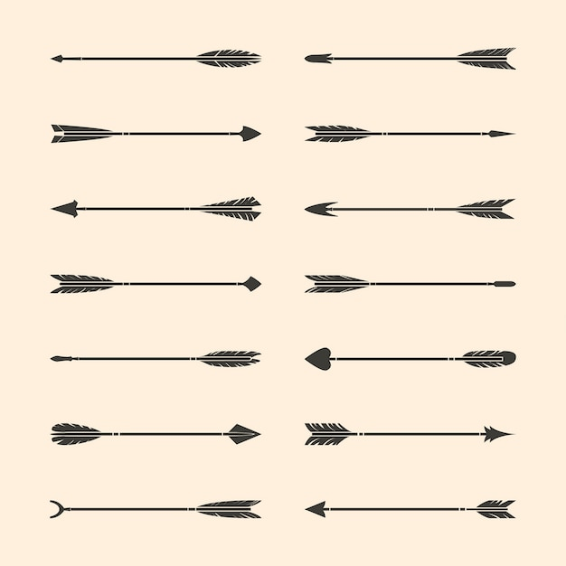 Set di vettori freccia elegante grigio Vettore gratuito