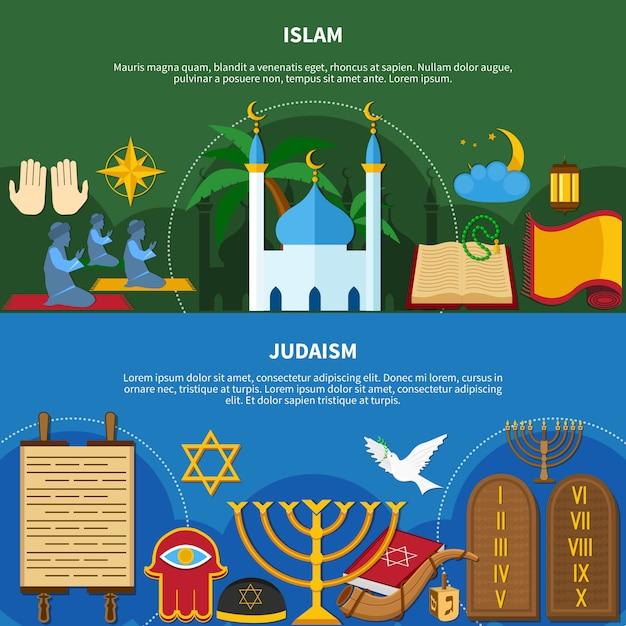 Set di volantini di religioni Vettore gratuito