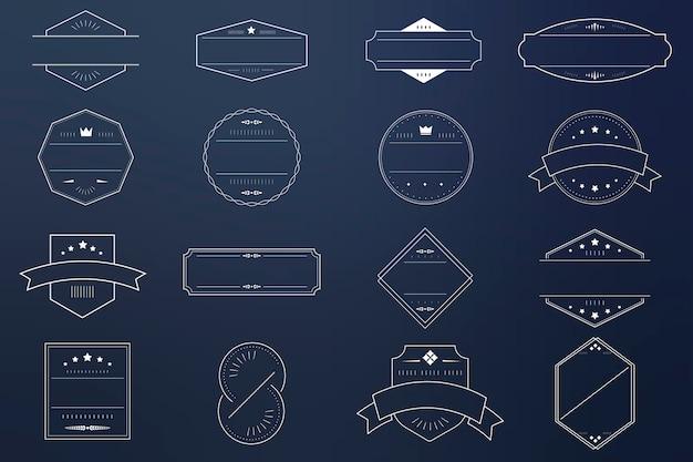 Set distintivo vuoto Vettore gratuito