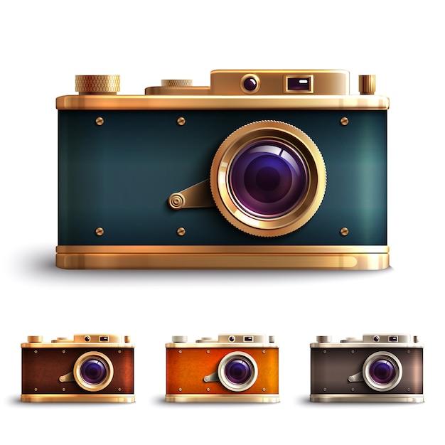Set fotocamera stile retrò Vettore gratuito