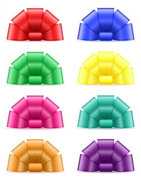 Set icone prua per regalo Vettore Premium