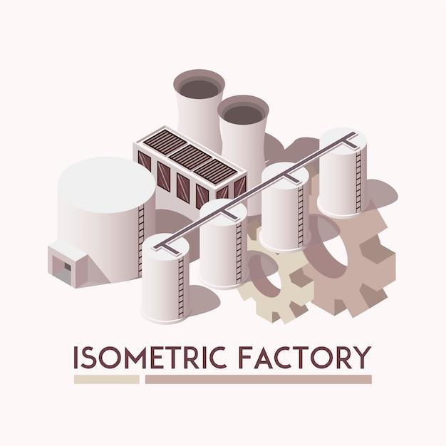 Set isometrico di fabbrica Vettore gratuito