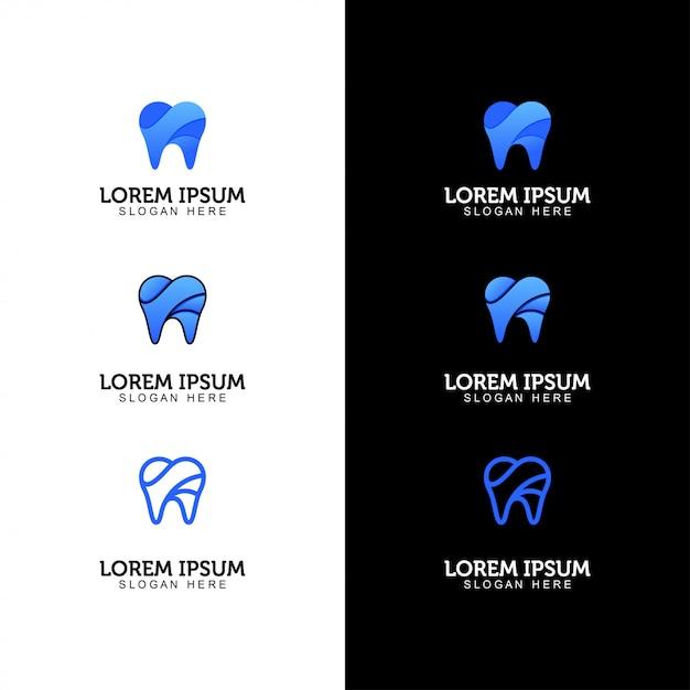 Set logo dentale Vettore Premium