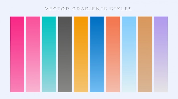 Set moderno di semplici gradienti impostati Vettore gratuito