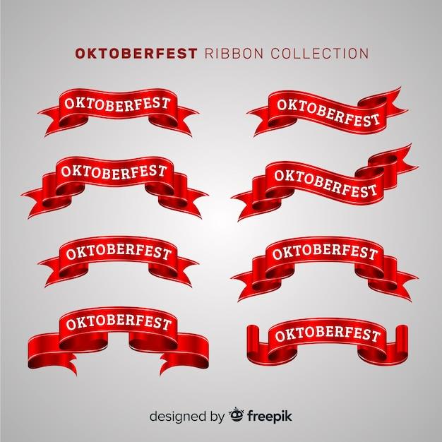 Set originale di nastri oktobefest Vettore gratuito