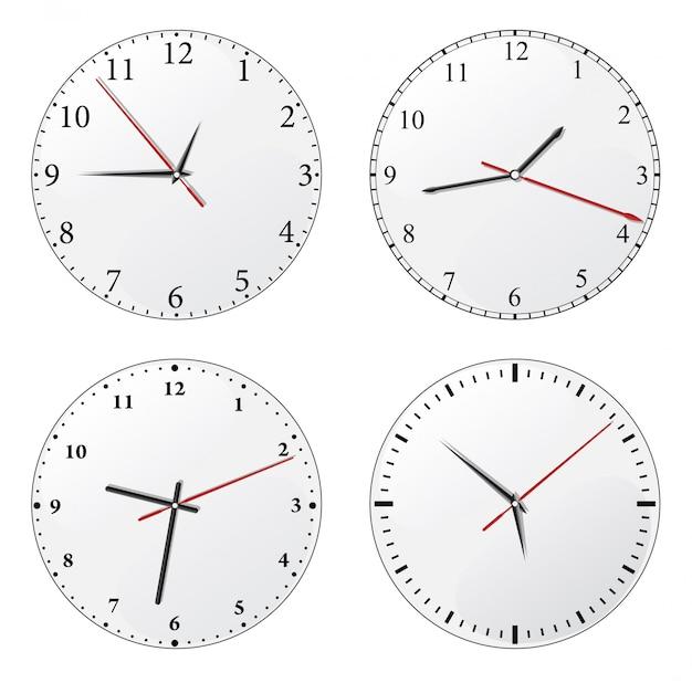 Set orologio da parete Vettore Premium