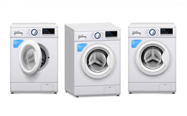 Set realistico per lavatrice Vettore gratuito