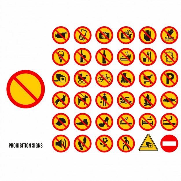 Set simbolo divieto Vettore gratuito