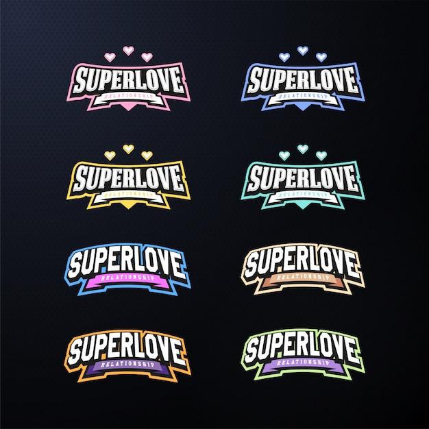 Set tipografia emblema dello sport. Vettore Premium