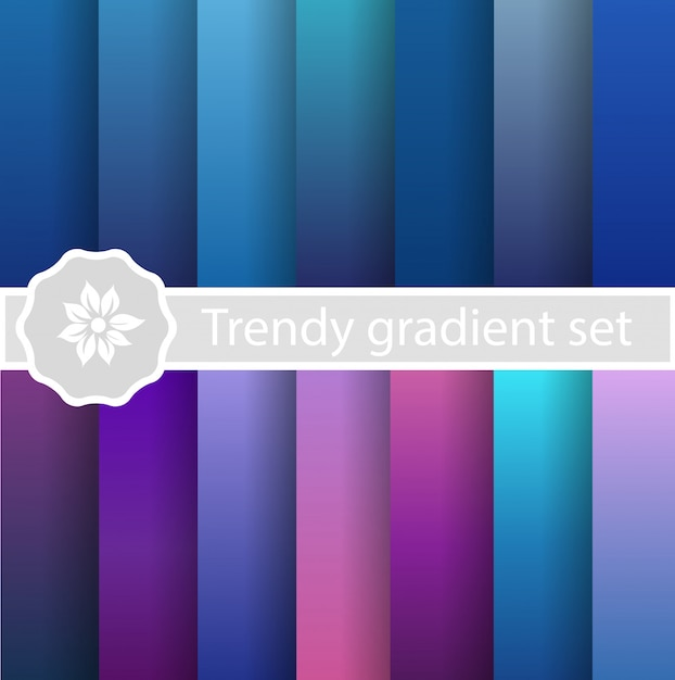 Set viola alla moda ultravioletto Vettore Premium