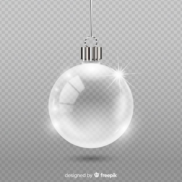 Sfera natalizia in cristallo trasparente Vettore gratuito