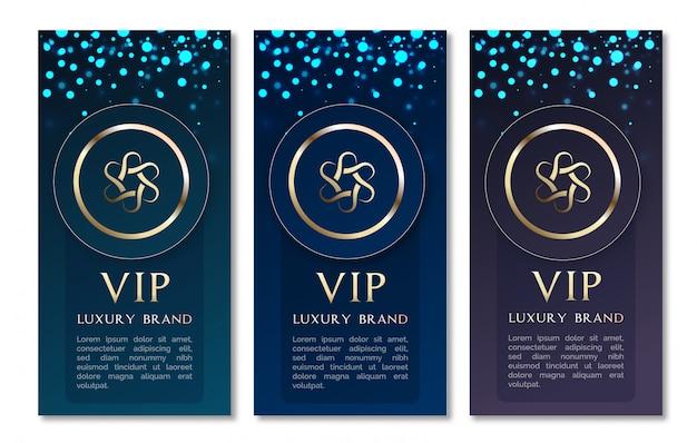 Sfondi di invito glitter Vettore Premium