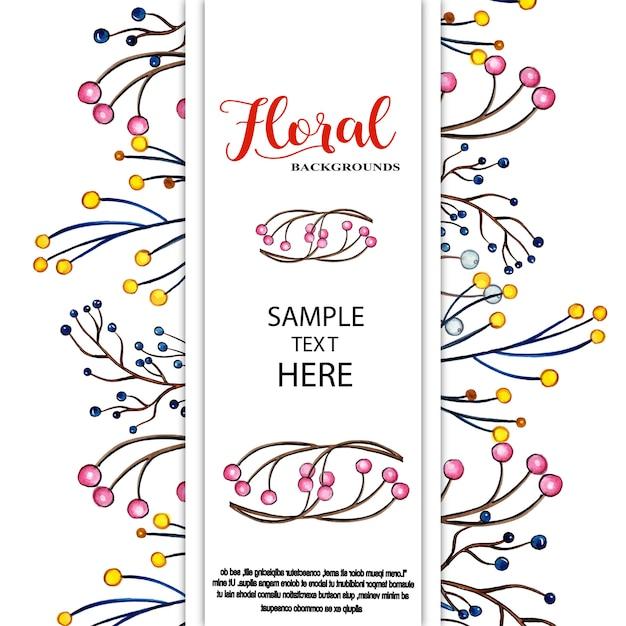 Sfondi floreali dell'acquerello Vettore Premium