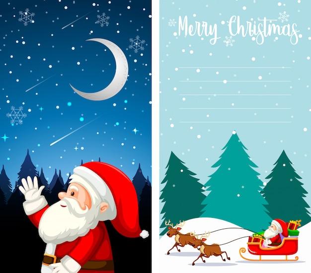 Sfondi per il desktop con tema natalizio Vettore gratuito
