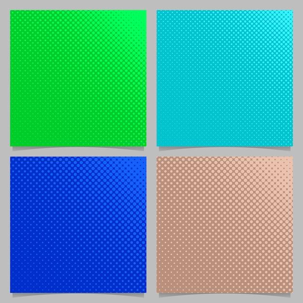 Sfondo a forma di mezzitoni astratti geometrici astratti colorati impostati - quadrato design brochure da cerchi Vettore gratuito
