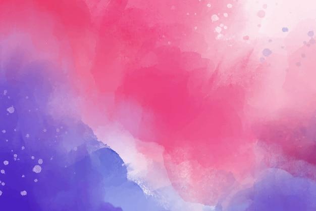 Sfondo acquerello con viola e rosa Vettore gratuito