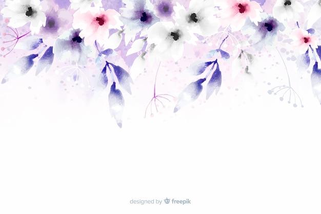 Sfondo acquerello floreale dai colori tenui Vettore gratuito