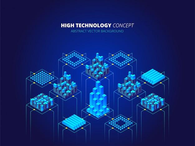 Sfondo ad alta tecnologia Vettore Premium