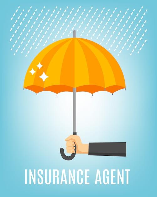 Sfondo agente di assicurazione Vettore Premium