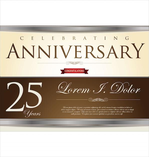 Sfondo anniversario Vettore Premium