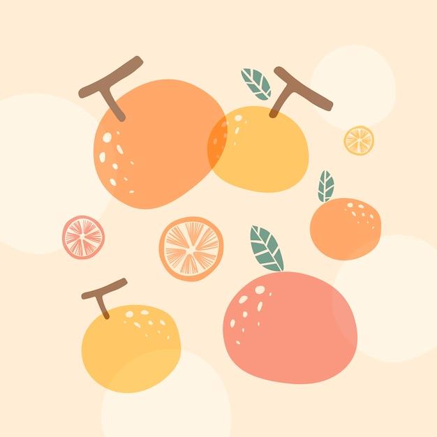Sfondo arancione estate Vettore gratuito