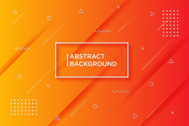 Sfondo arancione sfumato con texture dinamica Vettore Premium