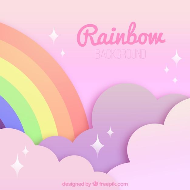 Sfondo arcobaleno colorato Vettore gratuito