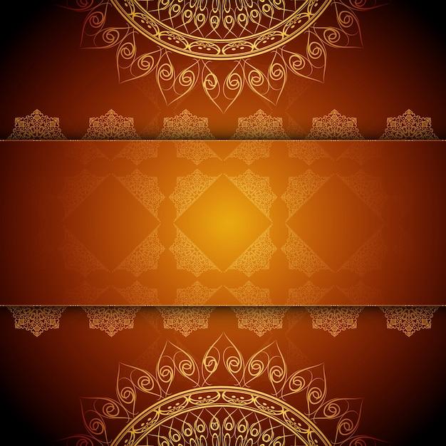 Sfondo astratto artistico di design mandala di lusso Vettore gratuito