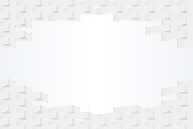 Sfondo astratto bianco in stile carta 3d Vettore gratuito