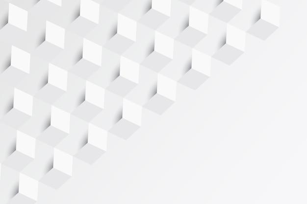 Sfondo astratto bianco in stile carta Vettore gratuito