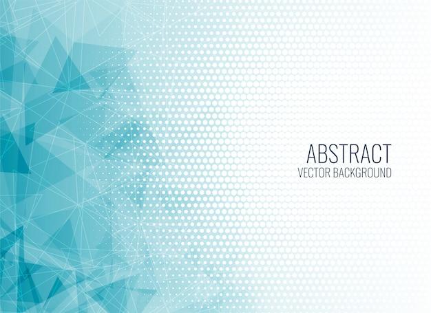 Sfondo astratto blu forme geometriche Vettore gratuito